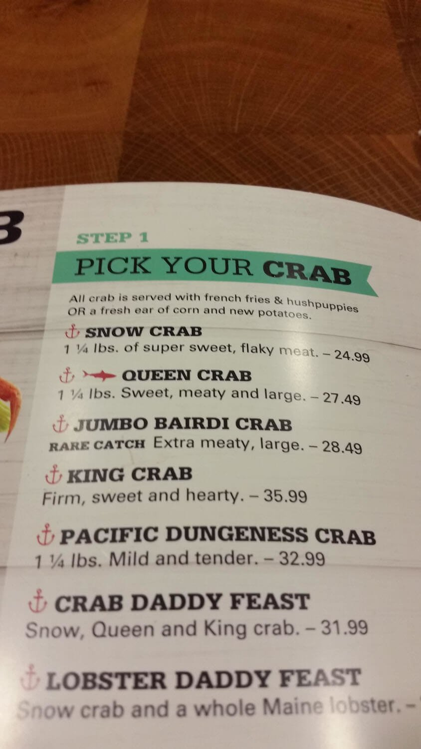 Joe's Crab Shack Menu – 16