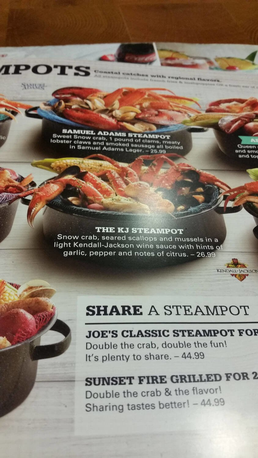 Joe's Crab Shack Menu – 18