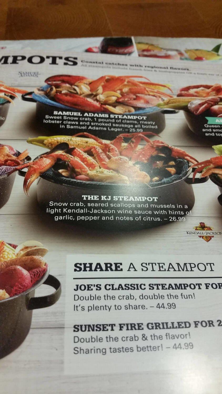 Joe's Crab Shack Menu – 18