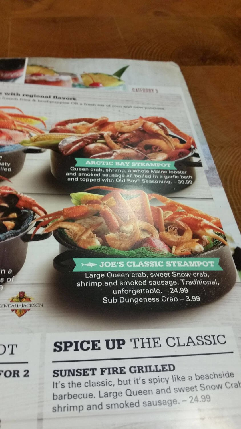 Joe's Crab Shack Menu – 19