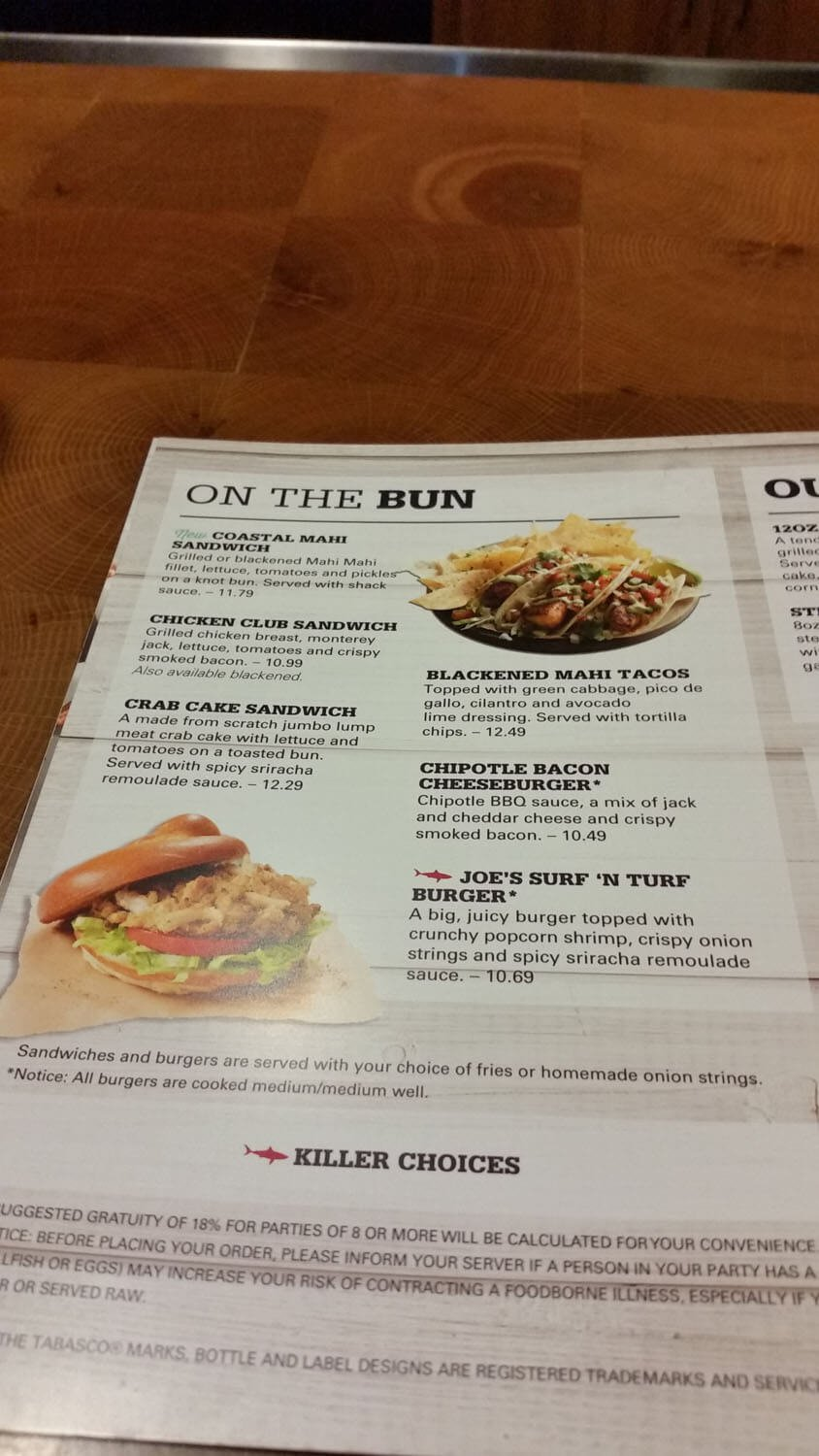 Joe's Crab Shack Menu – 23