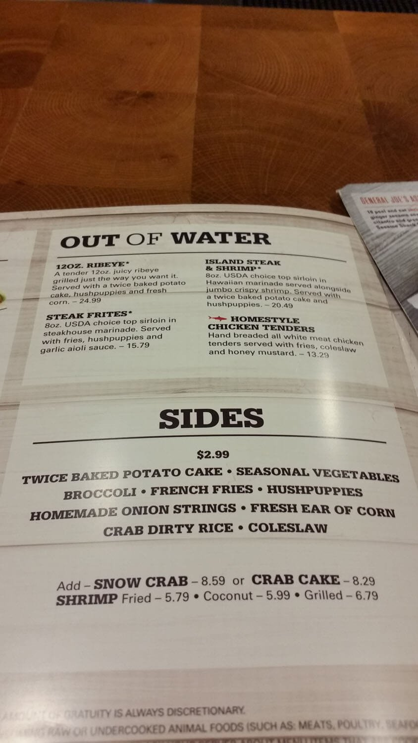 Joe's Crab Shack Menu – 24