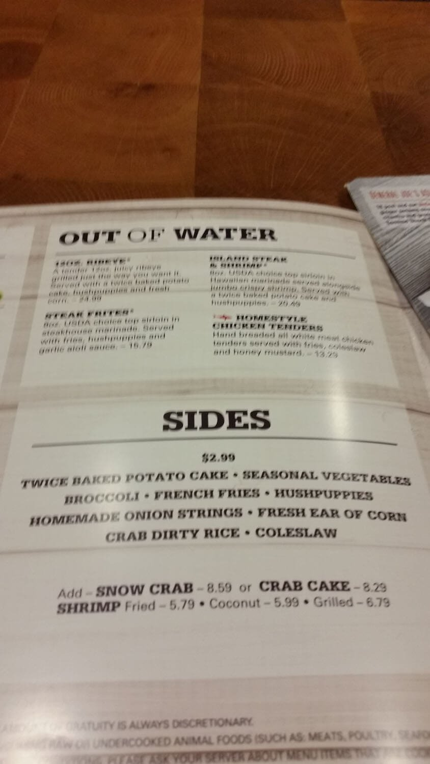 Joe's Crab Shack Menu – 25