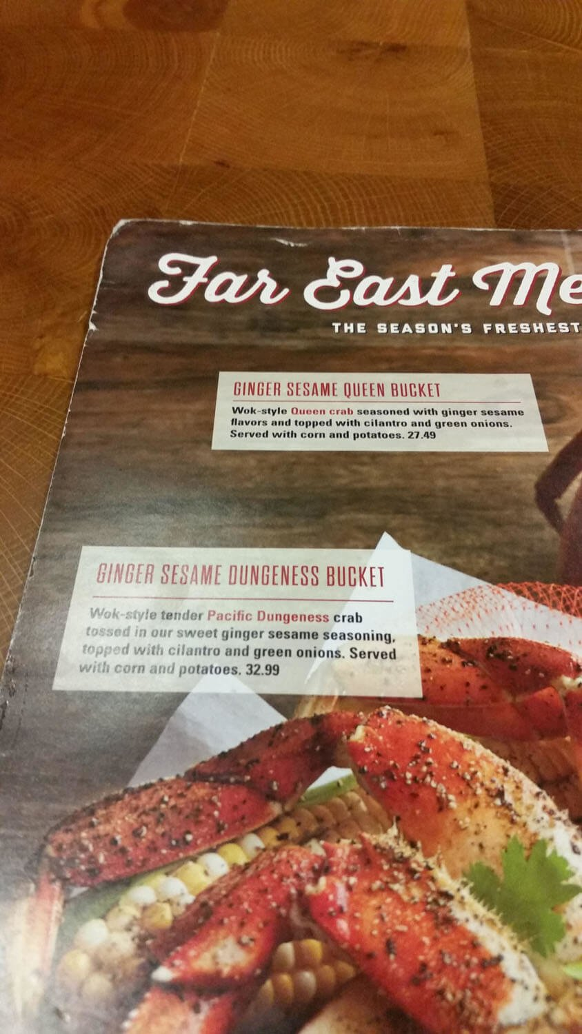 Joe's Crab Shack Menu – 26