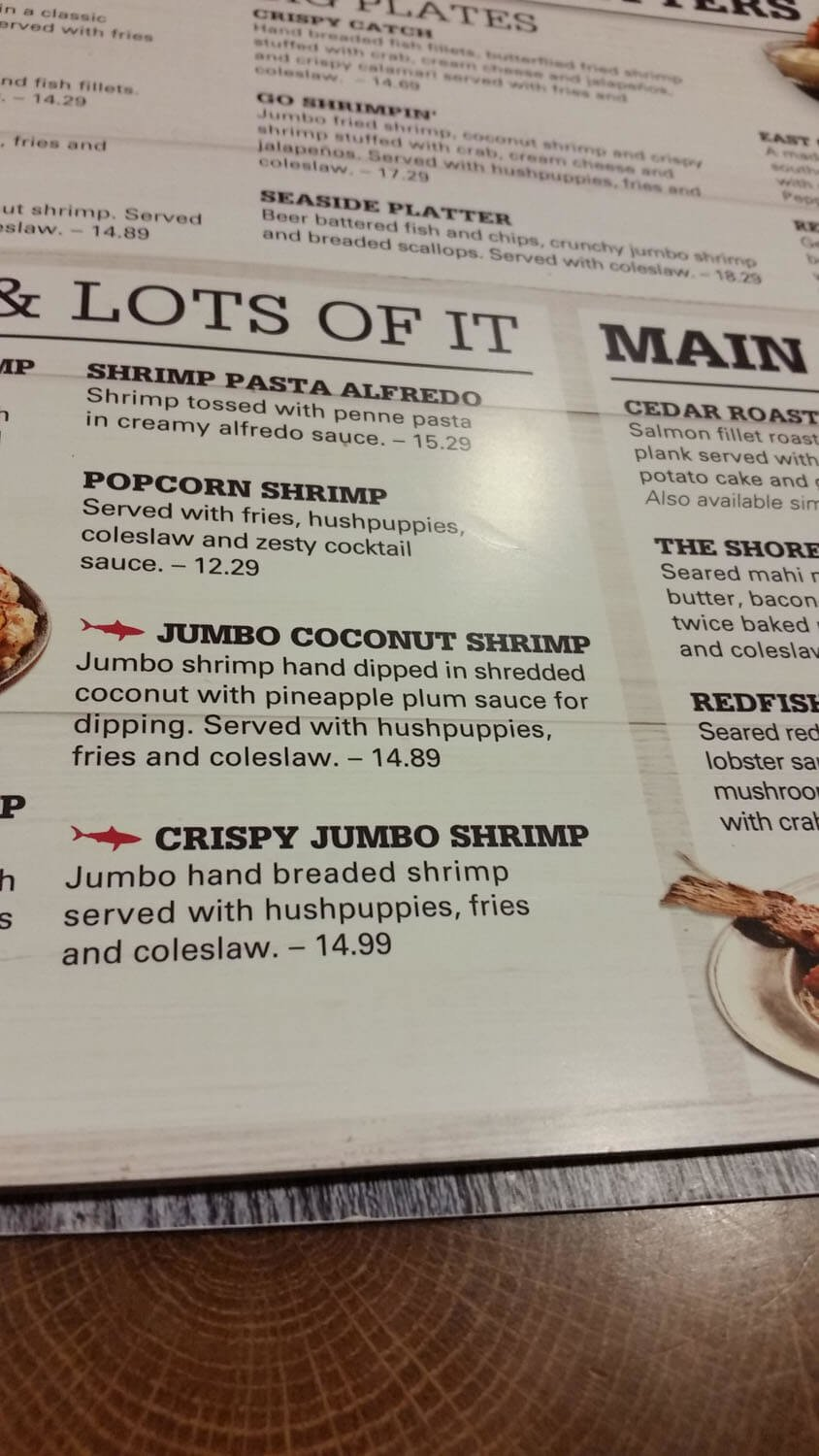 Joe's Crab Shack Menu – 8