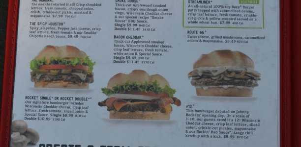 Johnny Rockets Menu – 1