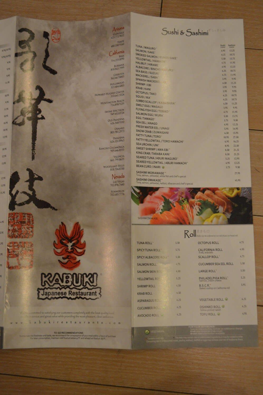 Kabuki Menu – 3