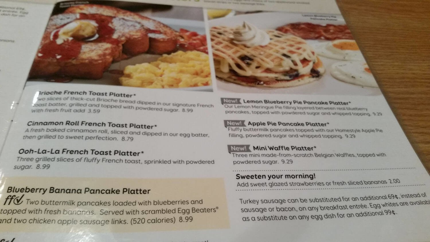 Perkins Menu Prices