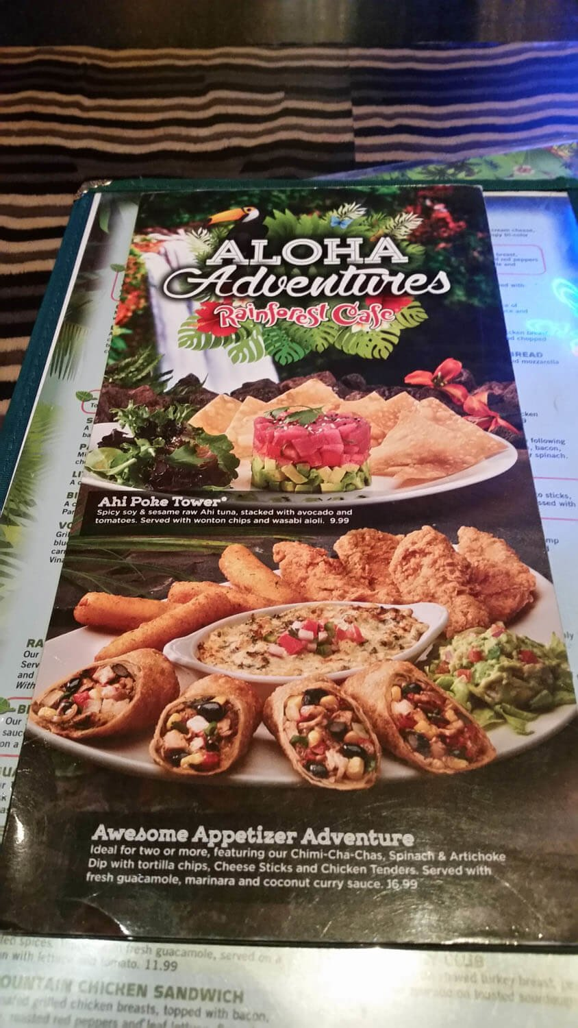 Rainforest Cafe Menu – 18