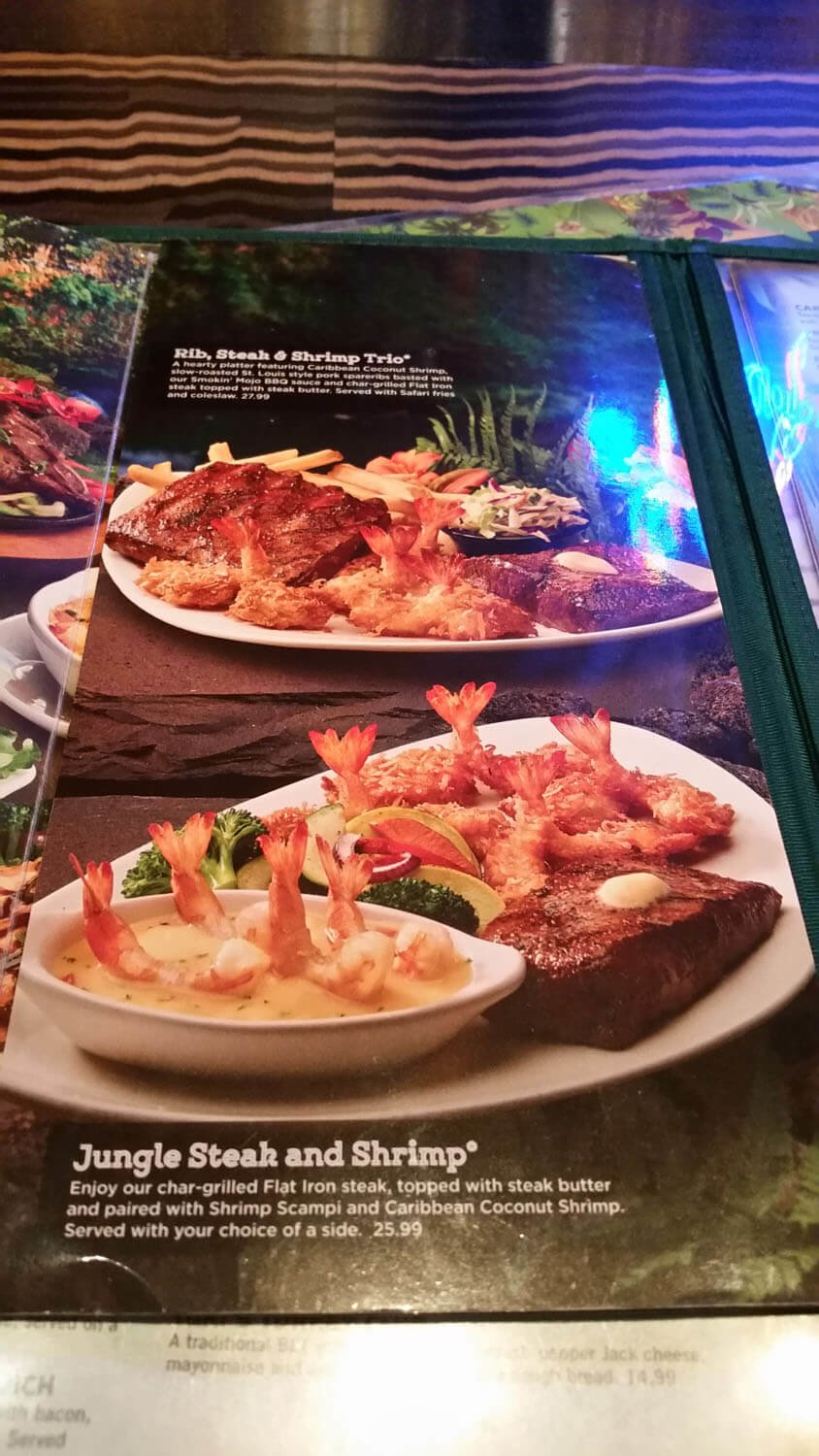 Rainforest Cafe Menu – 22