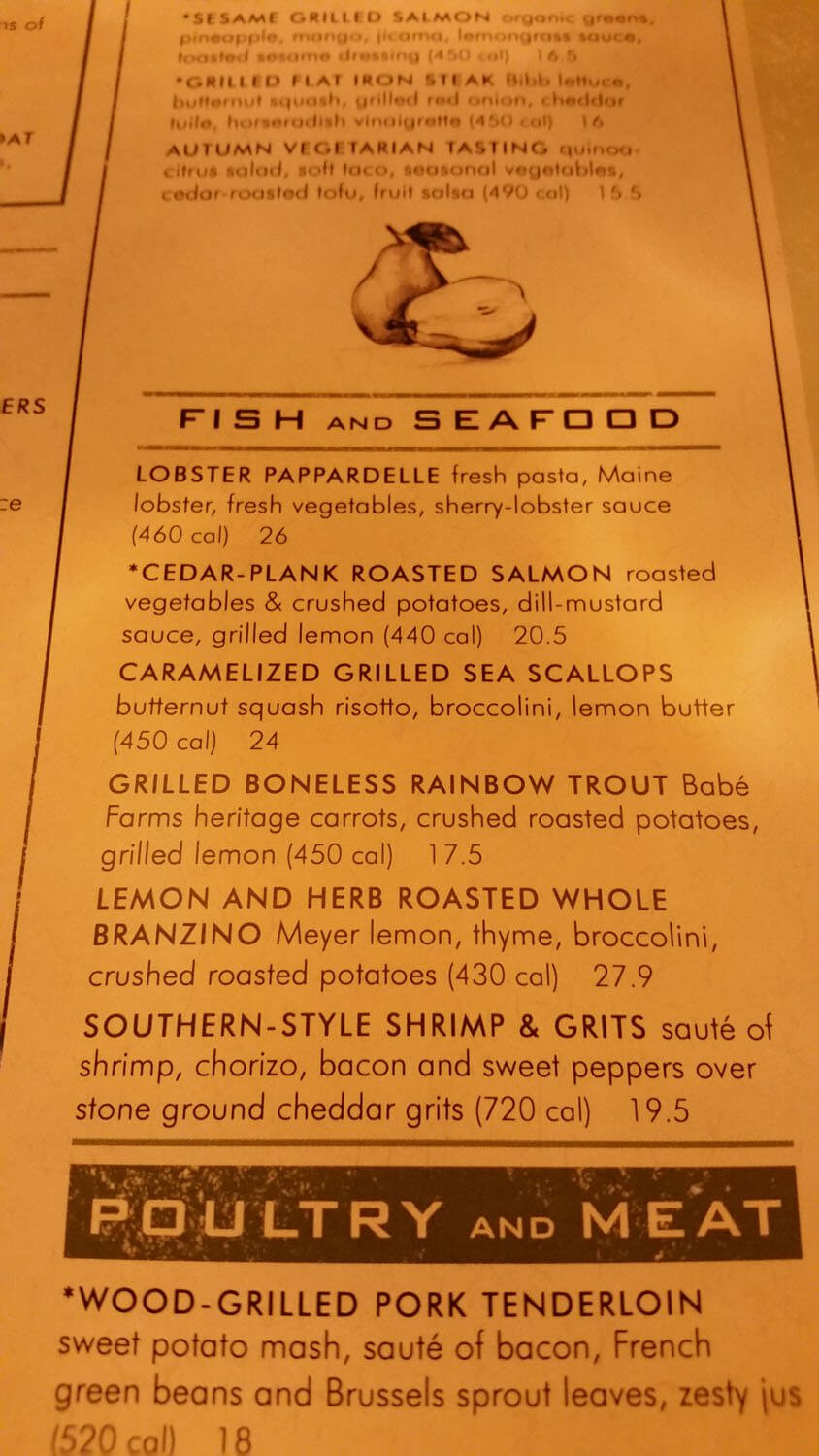 Seasons 52 Menu – 1