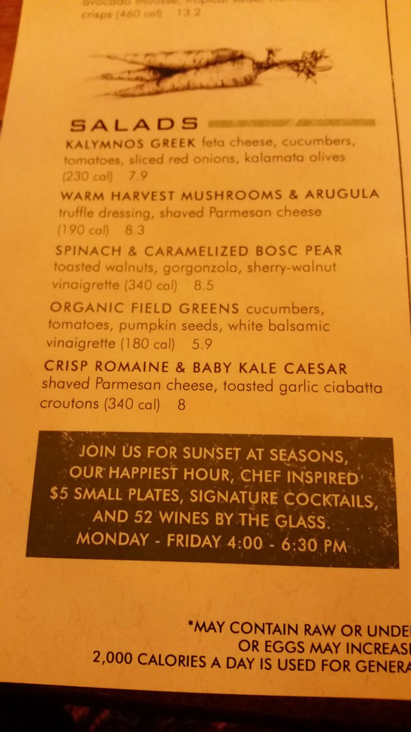 Seasons 52 Menu – 3