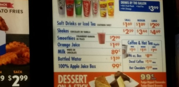 White Castle Menu – 1