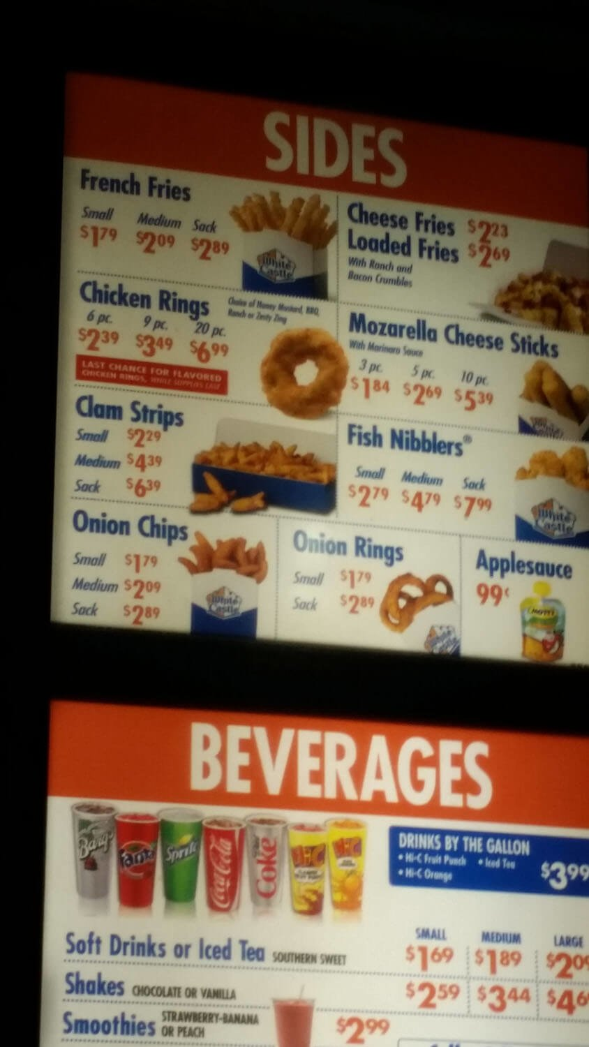 White Castle Menu – 11