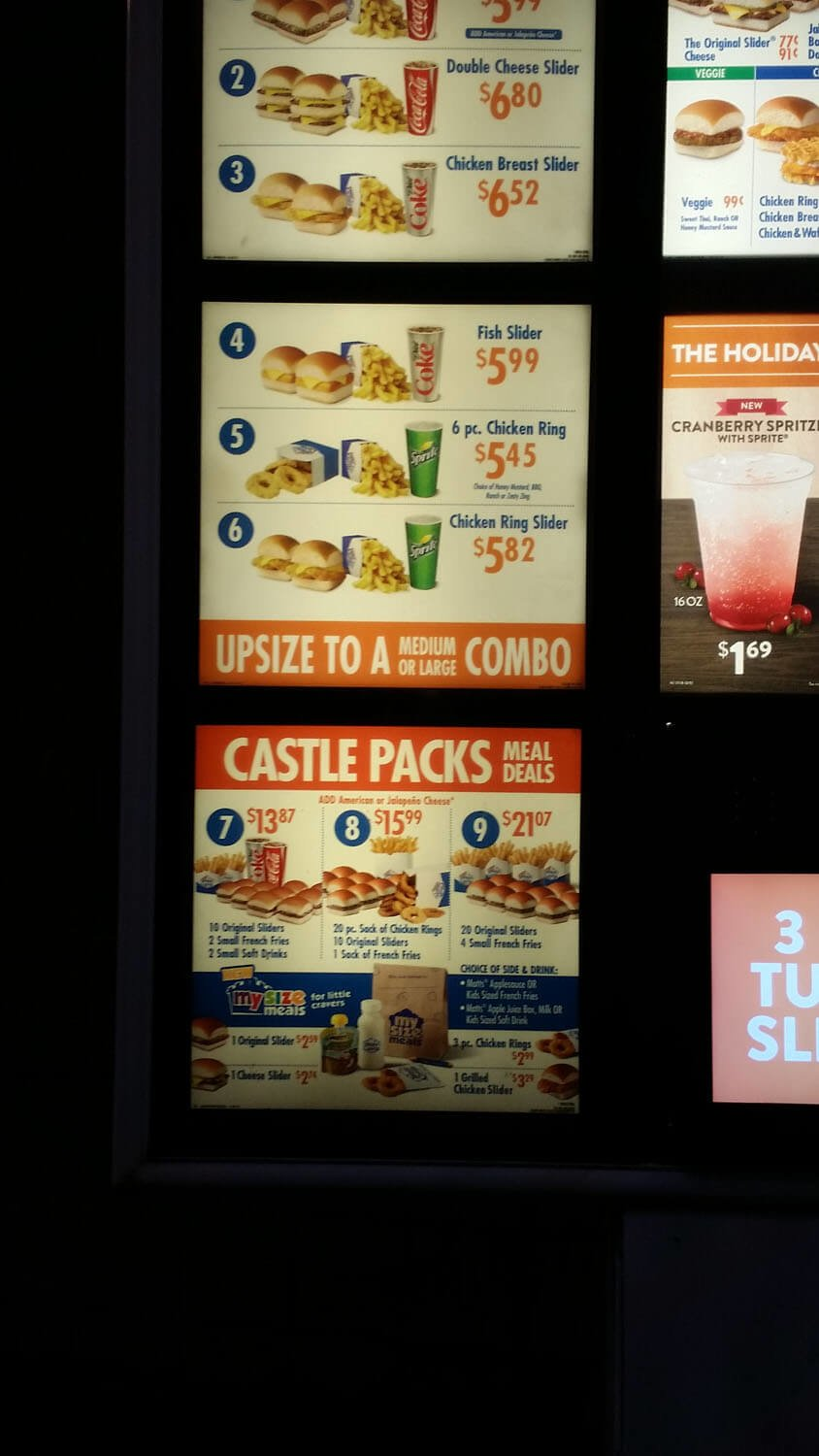 White Castle Menu – 13