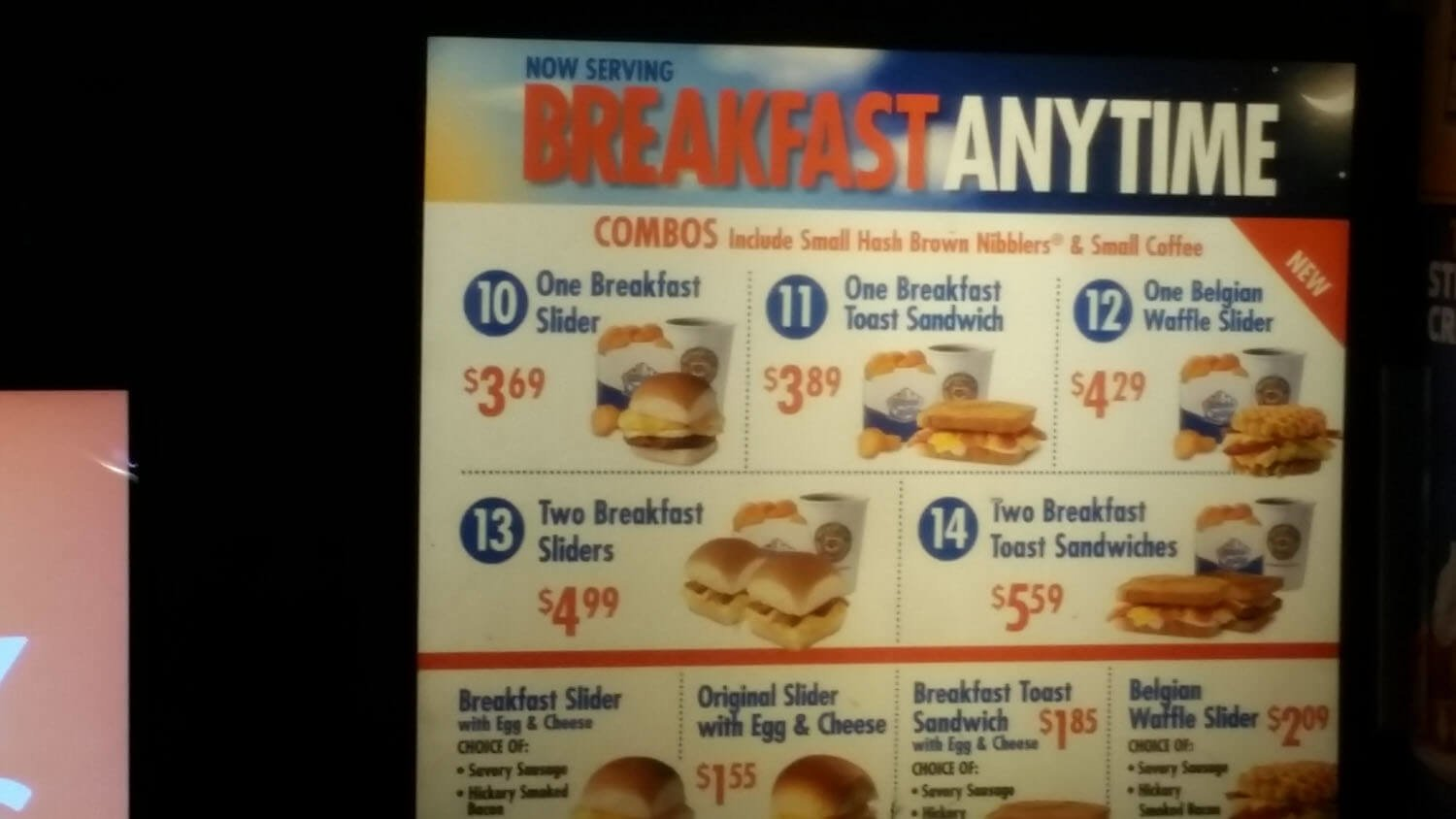 White Castle Menu – 2