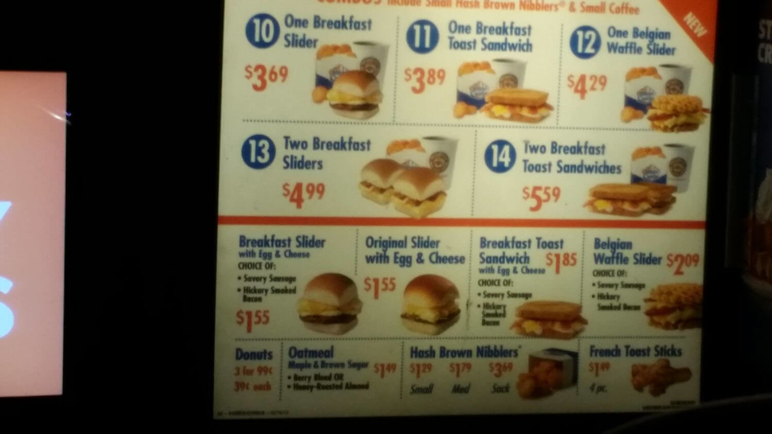 White Castle Menu – 3