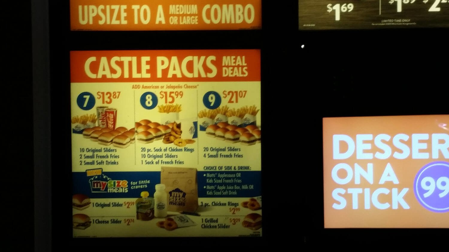 White Castle Menu – 8