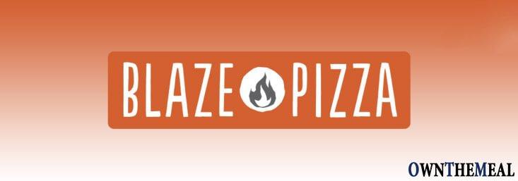 Blaze Pizza Menu & Prices