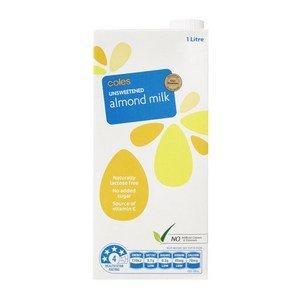 coles almond milk