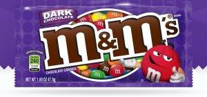 m & m dark chocolate