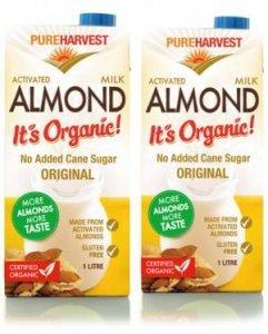 pureharvest activated almond milk
