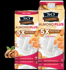 so delicious almond plus milk